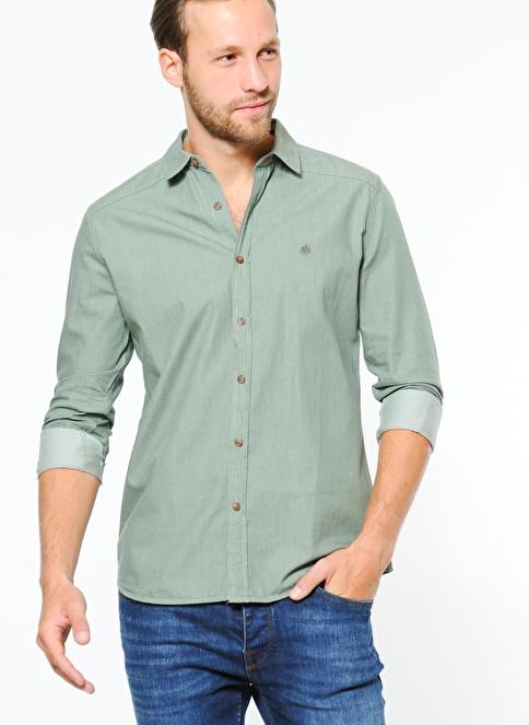 Mavi Gömlek | Yarı Dar Kalıp Yeşil